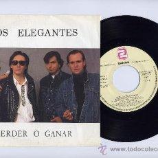 Discos de vinilo: LOS ELEGANTES. PROMO SINGLE 45. PERDER O GANAR. ZAFIRO 1989. Lote 26922562