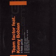 Disques de vinyle: DISCO LP 33 RPM - TEAM FACTOR FEAT - KENNY BOBIEN.. Lote 18343000