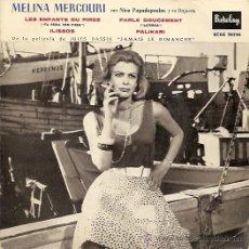Discos de vinil: MELINA MERCOURI EP SELLO BARCLAY AÑO 1960 EDITADO EN ESPAÑA.. Lote 18390972