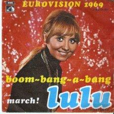 Discos de vinilo: SINGLE DE LULU - EUROVISION 1969. Lote 22735356