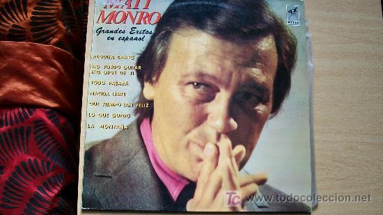 MATT MONRO-GRANDES EXITOS EN ESPAÑOL- (Música - Discos - LP Vinilo - Solistas Españoles de los 70 a la actualidad)