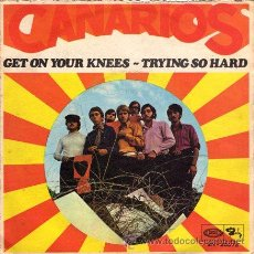 Discos de vinilo: CANARIOS ··· GET ON YOUR KNEES / TRYING SO HARD - (SINGLE 45 RPM). Lote 25795873