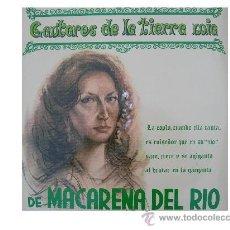 Discos de vinilo: MACARENA DEL RIO LP CANTARES DE LA TIERRA MIA 1984. Lote 18463904