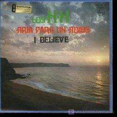 Discos de vinilo: LOS H.H. - ARIA PARA UN ADIOS / I BELIEVE - SINGLE 1968. Lote 18716428