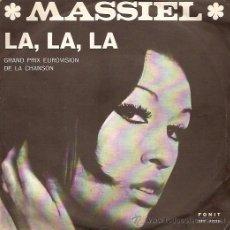 Discos de vinilo: MASSIEL (EUROVISION ´68) SINGLE SELLO FONIT EDITADO EN ITALIA. Lote 18467333