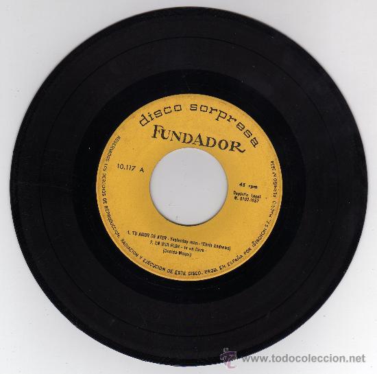 DISCO SINGLE 45 RPM - TU AMOR DE AYER - EN UNA FLOR - TEMA DE LARA - EXTRAÑOS EN LA NOCHE. (Música - Discos - Singles Vinilo - Bandas Sonoras y Actores)