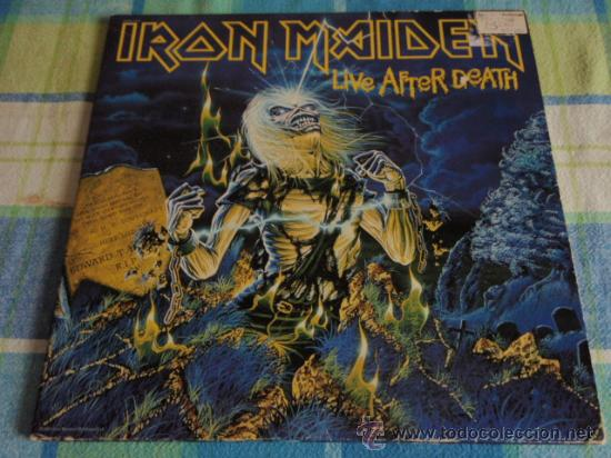 IRON MAIDEN 'LIVE AFTER DEATH' CALIFORNIA-USA 1985 2LPS CAPITOL RECORDS (Música - Discos - LP Vinilo - Heavy - Metal)