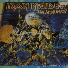Discos de vinilo: IRON MAIDEN 'LIVE AFTER DEATH' CALIFORNIA-USA 1985 2LPS CAPITOL RECORDS. Lote 166576260