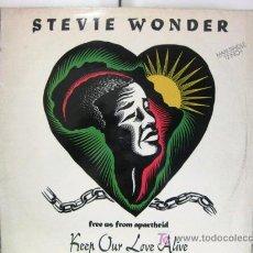 Discos de vinilo: STEVIE WONDER - KEEP OUR LOVE ALIVE - MAXI MOTOWN 1990 (FUNK / SOUL) BPY. Lote 28612653