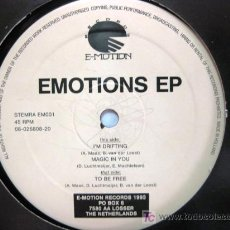 Discos de vinilo: VARIOUS - EMOTIONS EP - MAXI E-MOTION RECORDS 1993 (HOUSE) BPY. Lote 18626736
