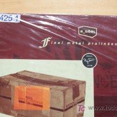 Discos de vinilo: R-GORL-FINAL METAL PRALINEES-DOBLE LP-1999-. Lote 18536268