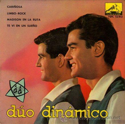 DUO DINAMICO ··· CARIÑOSA / LIMBO-ROCK / MADISON EN LA RUTA / TE VI EN UN SUEÑO - (EP 45 RPM) (Música - Discos de Vinilo - EPs - Grupos Españoles 50 y 60)