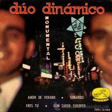 Discos de vinilo: DUO DINAMICO ··· AMOR DE VERANO / SOÑANDO / ERES TU / CON SABOR EUROPEO - (EP 45 RPM). Lote 25767126
