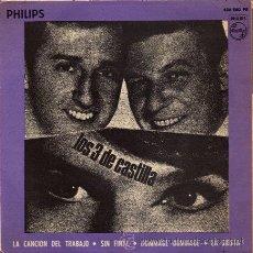 Discos de vinilo: LOS 3 DE CASTILLA ··· LA CANCION DEL TRABAJO / SIN FINAL / DOMMAGE, DOMMAGE / LA SIESTA - (EP 45 R). Lote 25767093