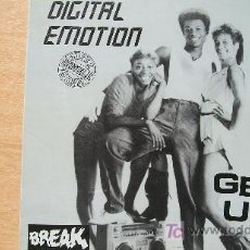 Discos de vinilo: DIGITAL EMOTION-GET UP ACTION-MAXI 45RPM-1984-. Lote 19190423