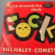 Discos de vinilo: BILL HALEY & HIS COMETS,LP ROCK AROUND THE CLOCK,ORIGINAL UK 1956!!BUDDY HOLLY, ELVIS, GENE VINCENT. Lote 26888347