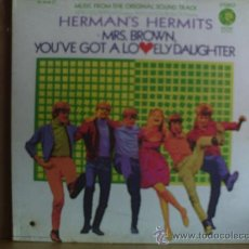 Discos de vinilo: HERMAN´S HERMITS ---- MRS.BROWN YOU´VE GOT A LOVELY DAUGHTER. Lote 18553189