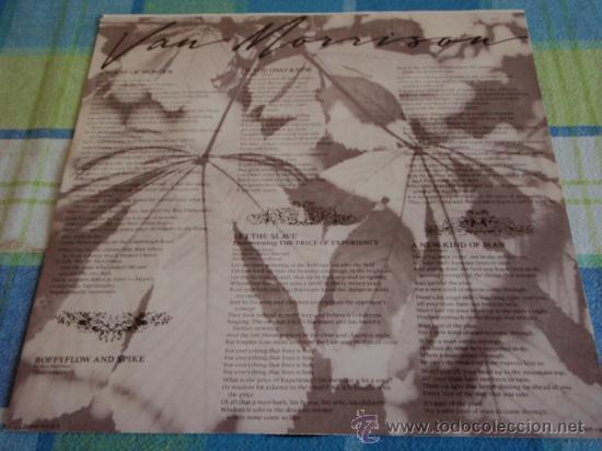 Discos de vinilo: VAN MORRISON - A SENSE OF WONDER USA-1985 LP MERCURY RECORDS - Foto 3 - 18556472