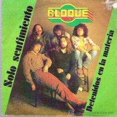 Discos de vinilo: BLOQUE - SOLO SENTIMIENTO ** CHAPA DISCOS 1981. Lote 19828321
