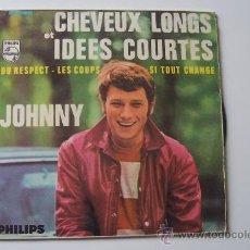 Discos de vinilo: JOHNNY HALLYDAY - CABELLOS LARGOS EP SPAIN. Lote 26657256
