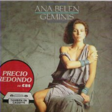 Discos de vinilo: ANA BELEN - GEMINIS ** LP CBS 1984. Lote 18611724
