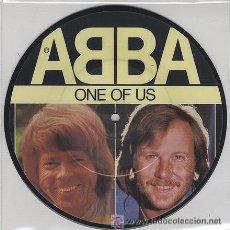 Discos de vinilo: ABBA / ONE OF US / SINGLE DE VINILO /EDICION FOTODISCO. Lote 18617579