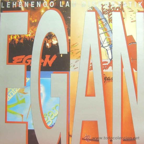 EGAN-LEHENENGO LAU DISKOETATIK LP 1991 SPAIN (Música - Discos - LP Vinilo - Grupos Españoles de los 90 a la actualidad)