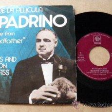Discos de vinilo: DISCO SINGLE EL PADRINO - TEMA DE LA PELICULA - RAY DAVIES AND THE BUTTON DOWN BRASS - ED. PYE.. Lote 20953377