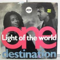 Discos de vinilo: LIGHT OF THE WORLD - ONE DESTINATION - MAXI COOLTEMPO 1990 (FUNK /SOUL /DISCO) BPY. Lote 18709773