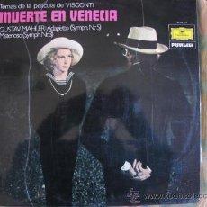 Discos de vinilo: LP - MUERTE EN VENECIA - GUSTAV MAHLER: ADAGIETTO / MISTERIOSO - DEUTSCHE GRAMMOPHON 1977. Lote 18709094