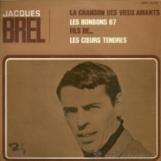 Discos de vinilo: JACQUES BREL EP SELLO BARCLAY EDITADO EN ESPAÑA AÑO 1967.. Lote 18722327
