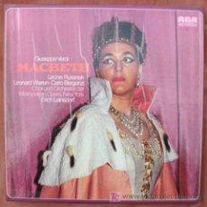 Discos de vinilo: RCA - VERDI - MACBETH - LEINSDORF - 3 LP'S - NM. Lote 18832855