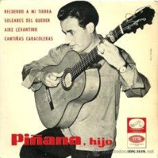Dischi in vinile: PIÑANA HIJO (GUITARRA FLAMENCA) EP SELLO LA VOZ DE SU AMO AÑO 1965. Lote 18812174