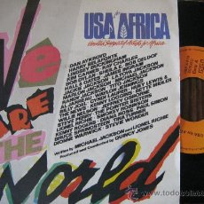 Discos de vinilo: USA FOR AFRICA SINGLE WE ARE THE WORLD 1985. Lote 18868807