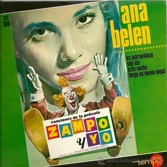 ANA BELEN EP SELLO TEMPO EDITADO EN ESPAÑA AÑO 1965 DEL FILM ZAMPO Y YO (Música - Discos de Vinilo - EPs - Solistas Españoles de los 70 a la actualidad)