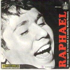 Discos de vinilo: RAPHAEL - YO SOY AQUEL ** EP HISPAVOX 1966. Lote 18881561