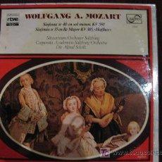Discos de vinilo: WOLFGANG A. MOZART - SINFONIA Nº 40 EN SOL MENOR KV 550 / SINFONIA Nº35 EN RE MAYOR KV 385 HAFFNER. Lote 27079993