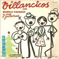 Discos de vinilo: MANOLO ESCOBAR Y SUS GUITARRAS - VILLANCICOS ** EP BELTER 1969. Lote 18905720