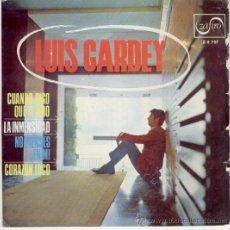 Discos de vinilo: LUIS GARDEY - CUANDO DIGO QUE TE AMO - CORAZON LOCO - EP 1967. Lote 26484771