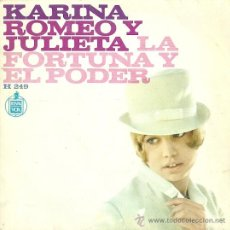 Discos de vinilo: KARINA SINGLE SELLO HISPAVOX EDITADO EN ESPAÑA AÑO 1967. Lote 18969248