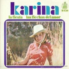 Discos de vinilo: KARINA SINGLE SELLO HISPAVOX EDITADO EN ESPAÑA AÑO 1968. Lote 18969256