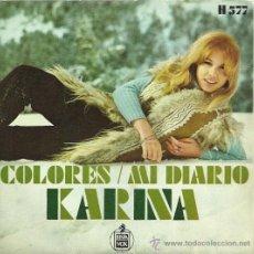 Discos de vinilo: KARINA SINGLE SELLO HISPAVOX EDITADO EN ESPAÑA AÑO 1970. Lote 18969349
