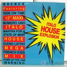 Discos de vinilo: ROCOCO - ITALO HOUSE MIX - MAXI BELLAPHON 1989 (HOUSE) BPY. Lote 27410362