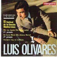 Discos de vinilo: LUIS OLIVARES - NO DIGAS NADA ** VII FESTIVAL MEDITERRANEO ** EP VERGARA 1965. Lote 18998305