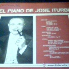 Discos de vinilo: EL PIANO DE JOSE ITURBI. RCA VICTOR, 1959. VINILO CON MUSICA DE ALBENIZ, FALLA, LISZT, DEBUSSY..... Lote 19038791