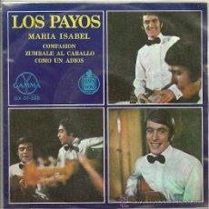 Discos de vinilo: LOS PAYOS EP SELLO HISPAVOX GAMMA EDITADO EN MEXICO. Lote 19059500