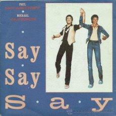 Discos de vinilo: MICHAEL JACKSON / PAUL MCCARTNEY SINGLE SELLO EMI-ODEON AÑO 1983 (PROMOCIONAL). Lote 19090186