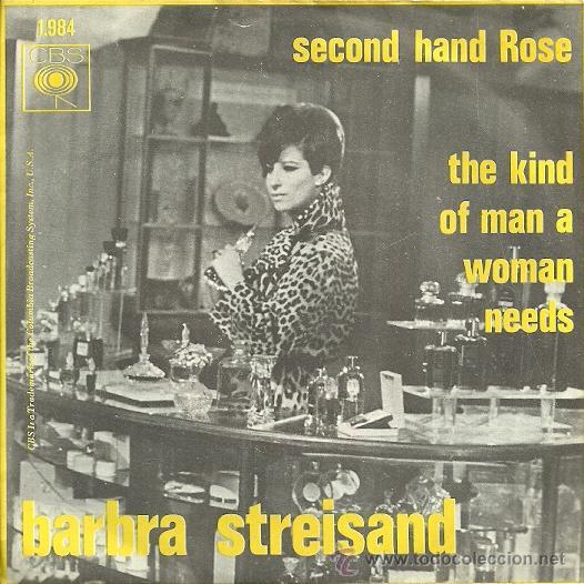 BARBRA STREISAND SINGLE SELLO CBS EDITADO EN HOLANDA (Música - Discos - Singles Vinilo - Bandas Sonoras y Actores)