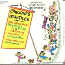 Discos de vinilo: EP CANCIONES INFANTILES _ MARY MERCHE + LA CHIQUILLADA + LOS VALLDEMOSA. Lote 24340540