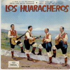 Discos de vinilo: LOS HUARACHEROS - Y DILE A LA PALMERITA - EP 1962. Lote 26698098